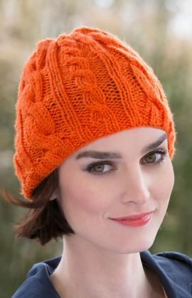 Knitting Pattern Hat With Hearts : Bright Cable Hat Free Knitting Pattern from Red Heart ...