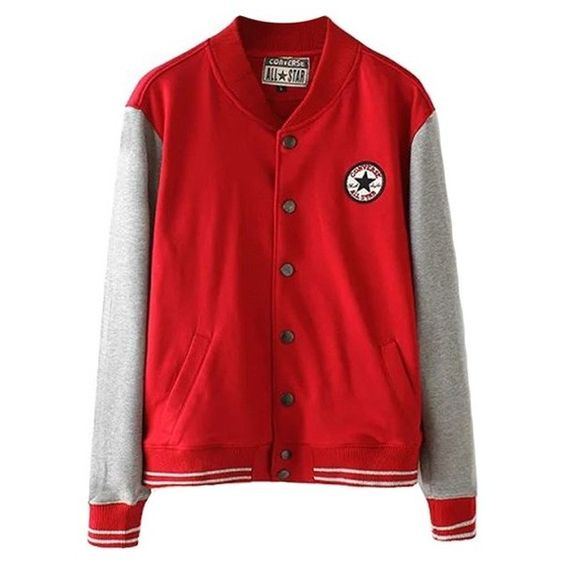Long Sleeve Snap Button Varsity Jacket (¥4,175) ❤ liked on Polyvore featuring outerwear, jackets, casacos, black, long sleeve jacket, varsity style jacket, letterman jackets, black long sleeve jacket and snap button jacket