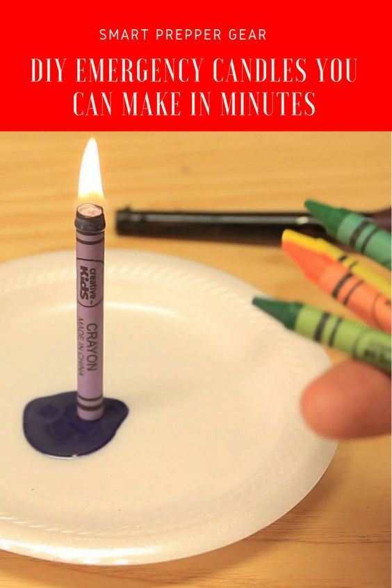 Prepper Ideas - DIY Emergency Candles You Can Make in Minutes