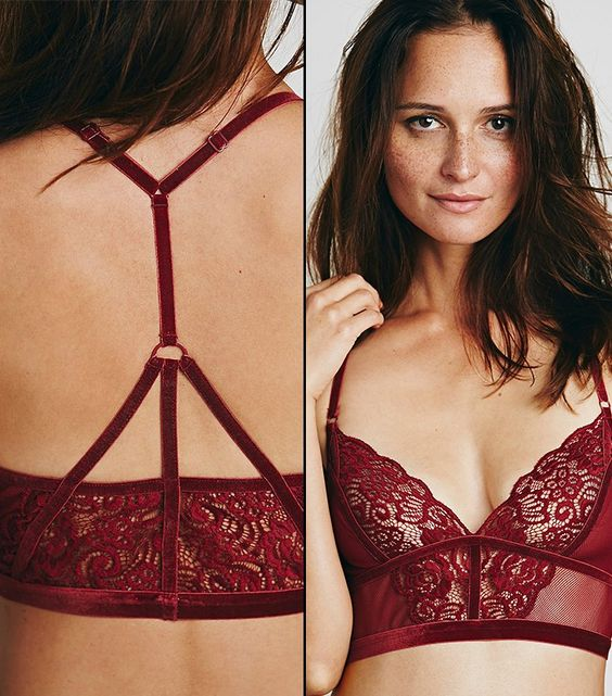 Free People Seven Wonders Soft Bra in Cranberry: