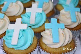 Cupcakes: Cupcakes Bautizo, Cross Cupcakes, Baptismo Ideas, Cakes Cupcakes Ideas, Baptism Ideas, Easter Cupcakes, Christening Cupcakes, Christening Ideas, Baptism Cupcakes