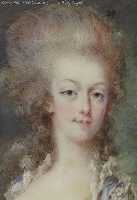 Detail: A miniature portrait of Marie Antoinette by Pierre Adolphe-Hall. 18th century.