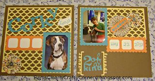 Pam's Clearly Crafty Corner: My Layout From the Pajama Party #Artbooking