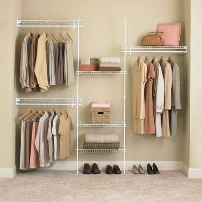 Closetmaid Design Ideas image of design closet maid shelving closetmaid design ideas Closetmaid Superslide Closet Organizer Kit White 5 39 To 8