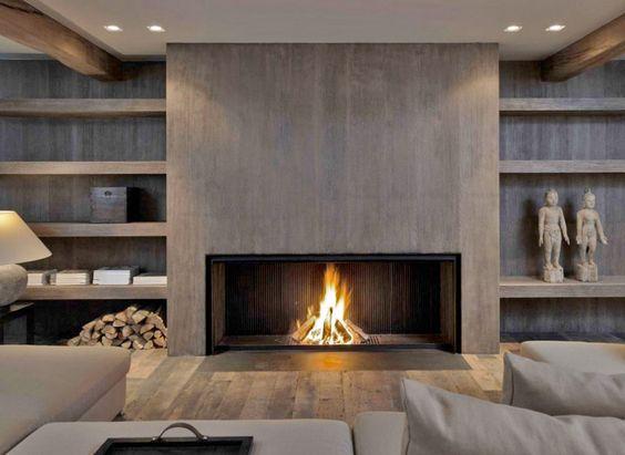 Metalfire fireplace with a modern wood look