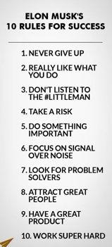 10 Rules for success: Elon Musk