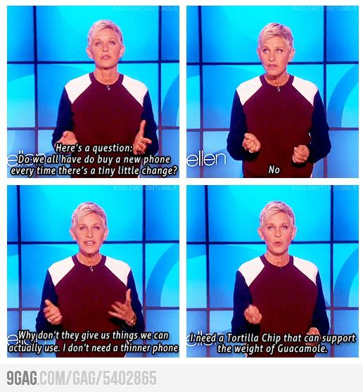 Ellen speaks the truth