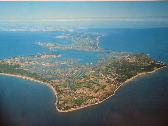 Vue aérienne de l'île