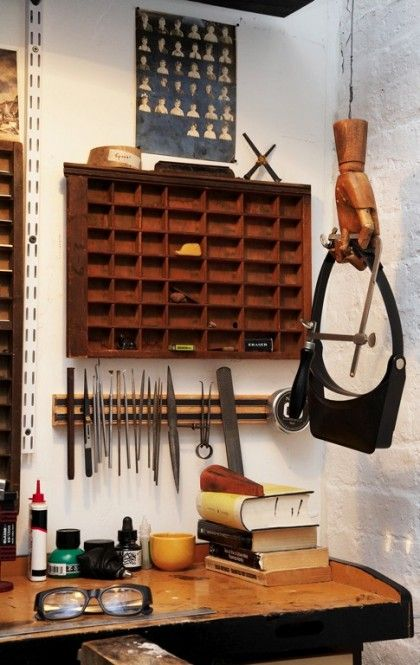 I love that wooden hand - wow, I would love one or two of those hanging from the ceiling for my goggles and other tools I love to keep handy - and not be laying on the bench and getting scratched up.  My goggles are all a mess.