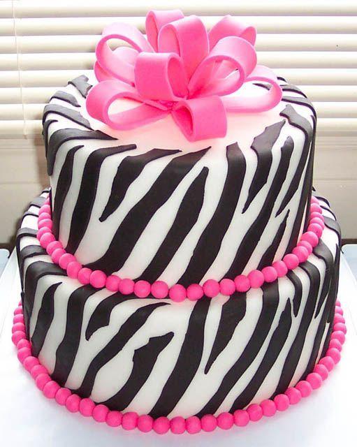 Zebra cake decorations