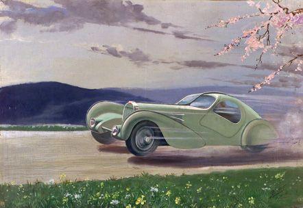The gorgeous 1935 Bugatti Aerolithe.