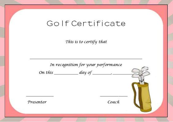 Golf Certificate Templates For Word 7 Templates Example Templates Example Certificate Templates Templates Gift Certificate Template