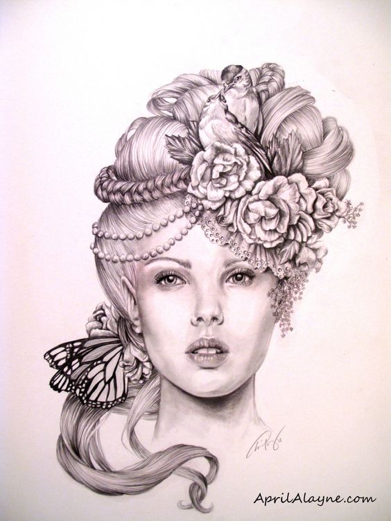 graphite drawing by April Alayne | Art - People and Faces ...