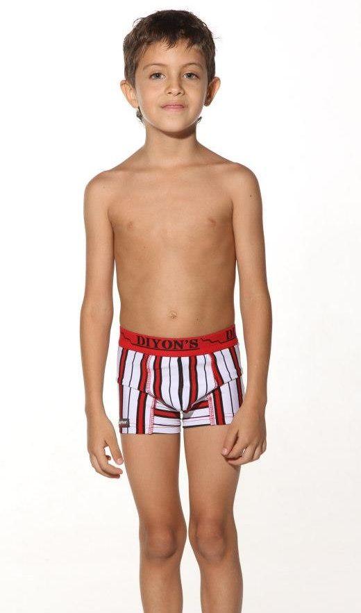 Young boy underwear model