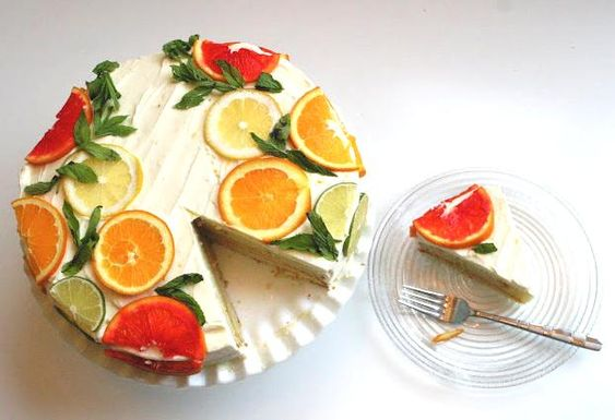 citrus cake inspired by Stella McCartney's prints