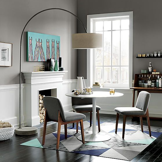 odyssey white dining table white dining table floor lamp and dining - Dining Room Floor Lamps