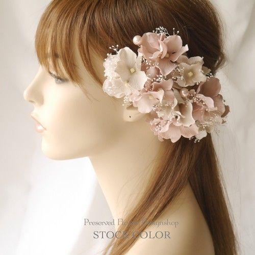 スズランのヘッドアクセサリーも可愛かったな 結婚式 花嫁 髪型