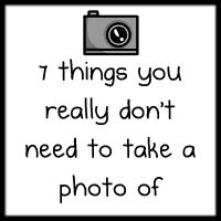 Totally agreed with this. Many unnecessary pictures on Facebook!