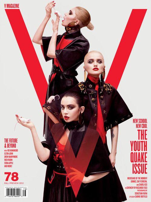 V Magazine #78, Sky Ferreira, Grimes, Charli XCX by Sebastian Faena