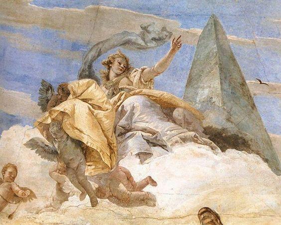Tiepolo - Bellerophon on Pegasus (detail). 1746-1747 fresco-Palazzo Labia, Venice: