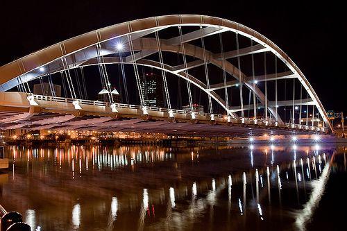 Douglass-Anthony Bridge at Night    Rochester, NY