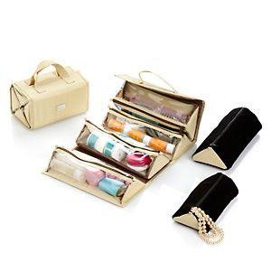 Joy Mangano Ultimate Better Beauty Case Set With Plush