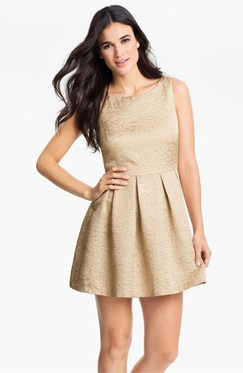 Vince Camuto Sleeveless Jacquard Dress available at Nordstrom #Nordstromweddings