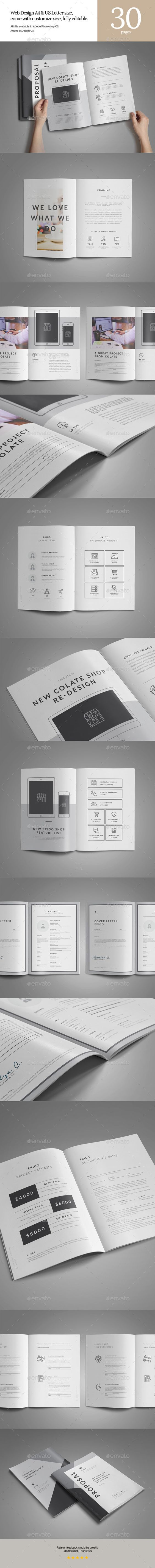 Web Design Proposal | Stationery templates, Proposals and Yellow