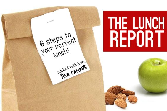 The Lunch Report: 6 Steps to Your Perfect Lunch