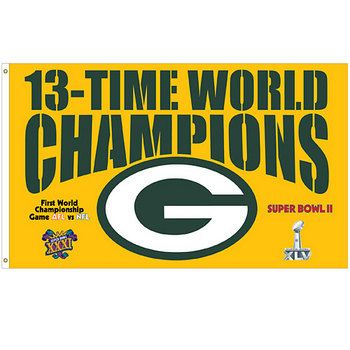 13-Time World Champions Banner, Go Pack Go!   Love My Packers ...
