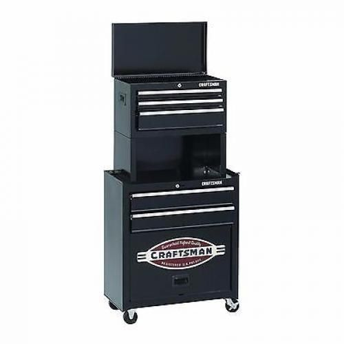 CRAFTSMAN Tool Chest Box 5 Drawer Riser Rolling Cabinet ...