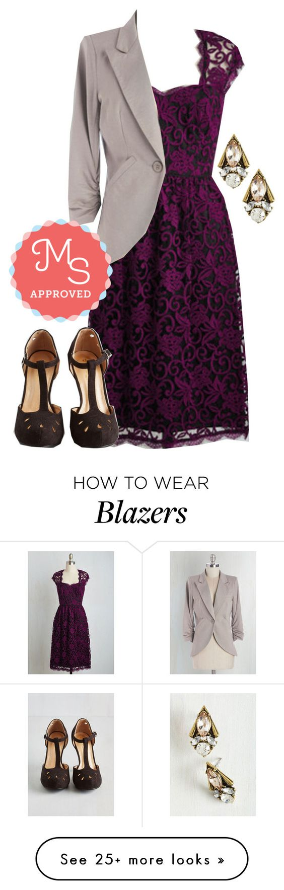"""Collected and Respected Dress"" by modcloth on Polyvore featuring outfit, wedding, modcloth and modstylist"
