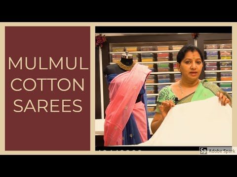 Mulmul Cotton Sarees Gayathri Reddy Designer Studio Mulmul Ethnicwear Gayathrireddy Youtube Cotton Saree Saree Cotton