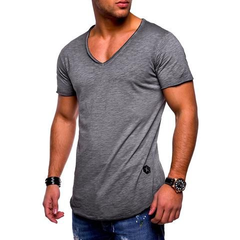 Men/'s V Neck Short Sleeve T Shirt Basic Casual Blouse Tops Shirts Muscle Tee Top