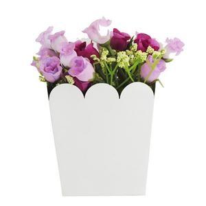 Maceta con flores lilas - Decoracion Ambientacion Cotillón Fiestas y Cumpleaños