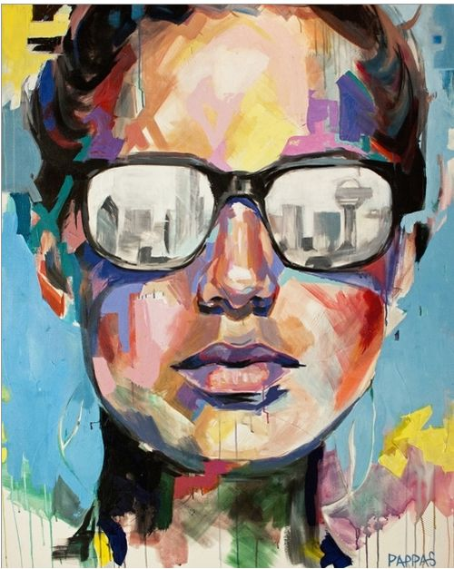 Dallas artist julia pappas portraits i love for Dallas mural artists