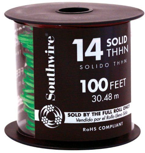 Southwire 22959118 100 14 Gauge Copper Building Wire Green By Southwire 20 64 Solid Wire Things To Sell Accessories Storage