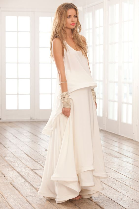 I love love love this. {ALEXIS - Azaria Long Skirt with Structured Hem }