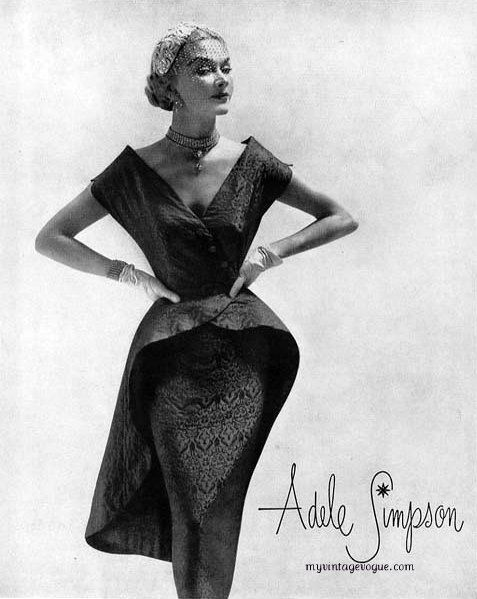 1951 Adele Simpson. She became a fashion designer whose influence continued for nearly five decades. She started as a child performer.