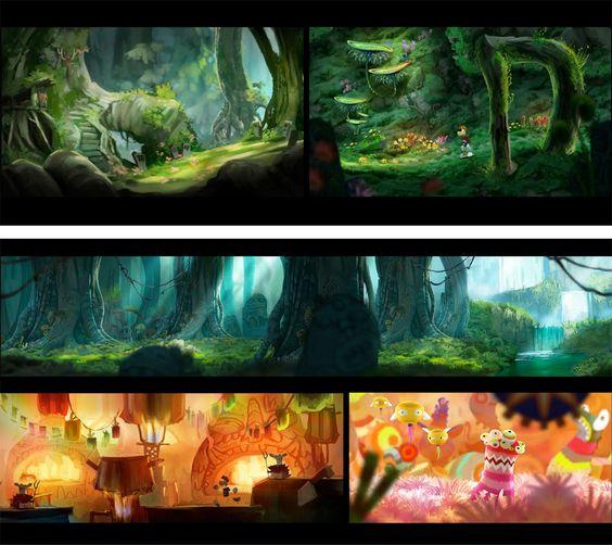 Beautiful concept artwork from Raymond Origins     http://theconceptartblog.com/2012/01/18/mais-concept-arts-de-rayman-origins-por-floriane-marchix/
