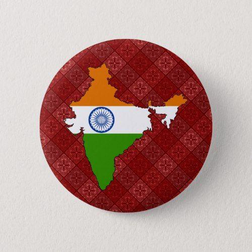 India Flag Map Full Size Pinback Button Zazzle Com India Flag Buttons Pinback Pinback