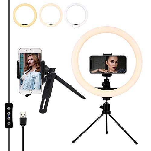12 Inches Led Ring Light With Stand And 2 Cell Phone Hold Https Www Amazon Com Dp B07r3wpwpk Re Led Ring Light Led Selfie Ring Light Ring Light With Stand