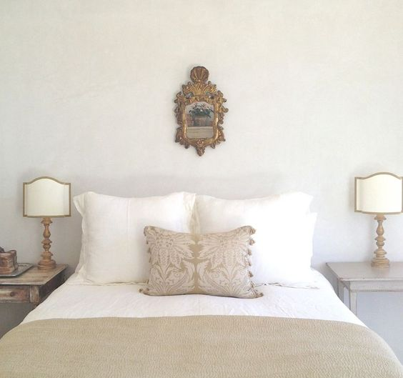 Brooke and Steve Gianetti's bedroom in their new house, Patina Farm