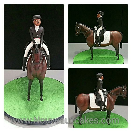 Equestrian Horse and Rider Chocolate Model