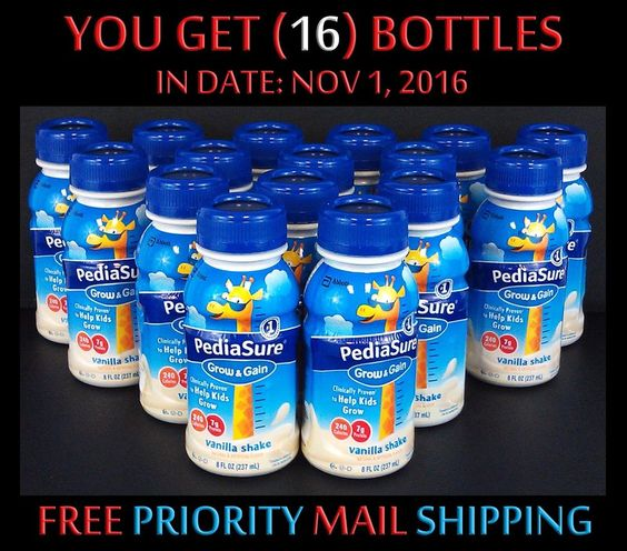 $36.99 Free EXP Ship (16) PediaSure Grow & Gain Kids Vanilla Shakes 8oz IN DATE: 11/16 #PediaSure #kidsfood #babyfood
