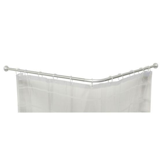 Tringle de douche gris combi tringles de salle de - Tringle rideau de douche ikea ...