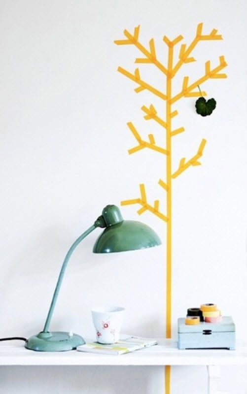 Arbre mural en adhesif bricole pinterest blog d co for Decoration adhesif mural