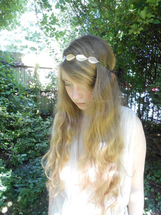 Gold Grecian Laurel Leaf Roman Style headband by MySugarSpunSister