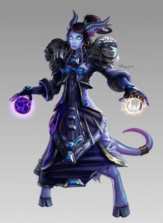 Irana World of Warcraft Miniatures Game Draenei Mage