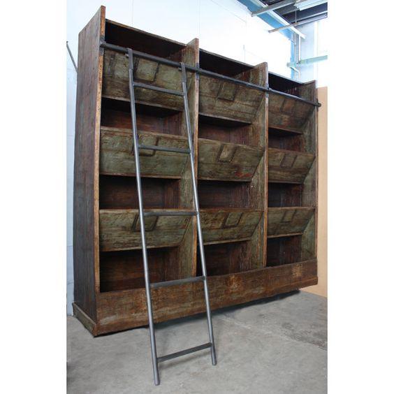 vintage storage and shelving units on pinterest. Black Bedroom Furniture Sets. Home Design Ideas